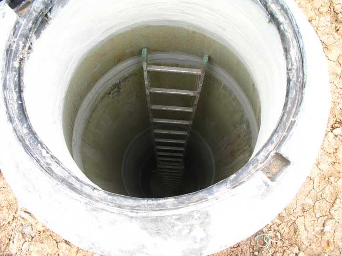 Open manhole