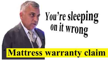 mattress warranty claim