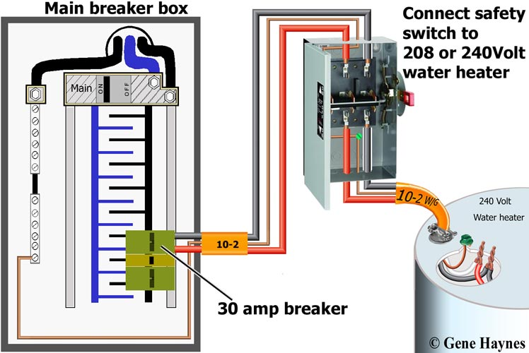 [DHAV_9290]  How to wire safety switch | 3 Phase 4 Wire Disconnect Schematic |  | Waterheatertimer.org
