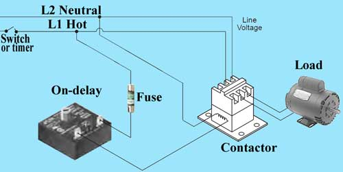 How to wire Dayton Off Delay Timer Off Delay Timer Wiring Diagram For on ic 555 timer diagram, well pump pressure switch diagram, off delay timer triac, hks turbo timer diagram, light timer for lighting diagram, dimmer switch installation diagram, timer switch diagram, off delay relay,