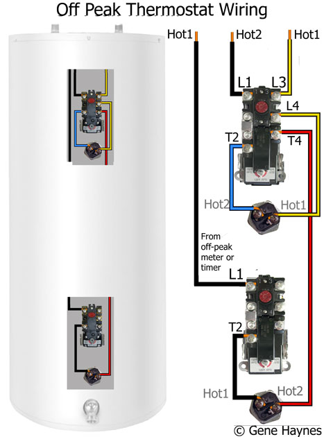 how to wire water heater thermostats rh waterheatertimer org gas hot water heater thermostat wiring diagram