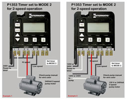 How to wire P1353 timer
