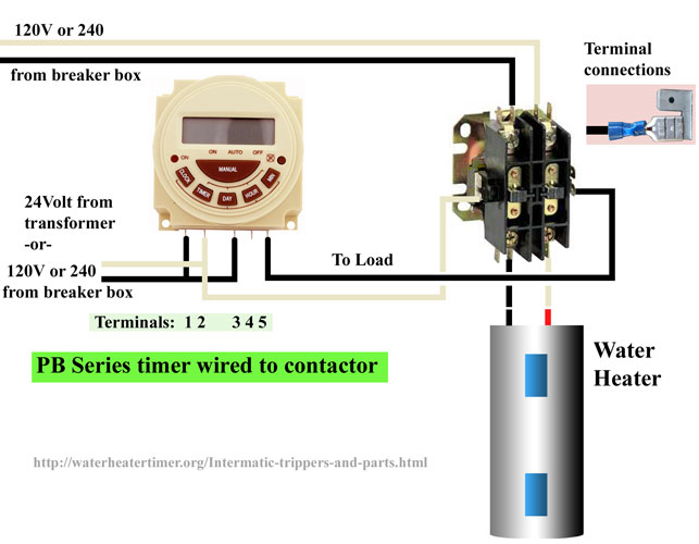 PB 300 series timer wire 50 contactors timer contactor wiring diagram at metegol.co
