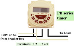 Intermatic PB300 series wiring
