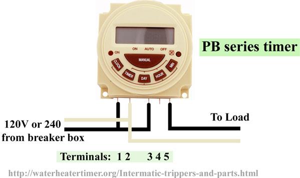 Intermatic PB300 series wiring