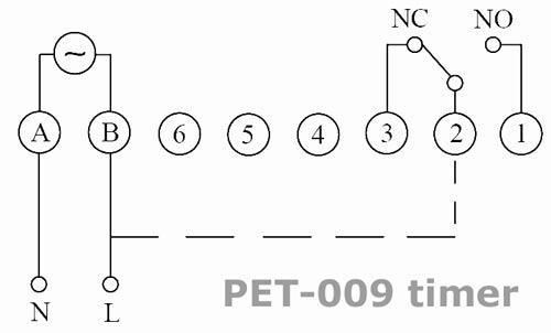 PET-009 timer wiring