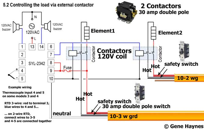 Wiring a thermostat to a contactor wire center add another thermostat to gas or electric water heater rh waterheatertimer org 2 pole contactor wiring diagram single phase contactor wiring diagram asfbconference2016 Images