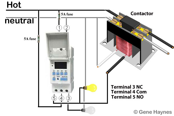 How to wire din rail timer