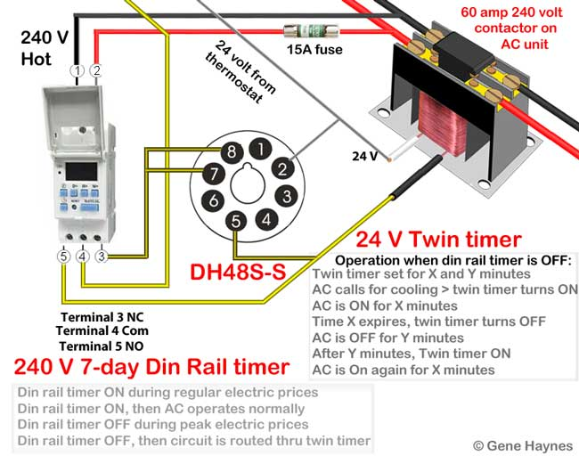 Din rail timers and manuals: Uxcell Controls Wiring Diagram on