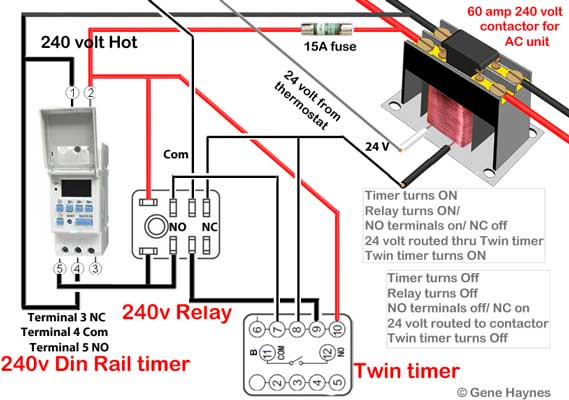 Delay timer for motor or pump 120volt to 240volt use terminals to connect the smaller wires to contactor prevent loose connection and risk of fire do not put two different gauge wires under the screw asfbconference2016 Gallery