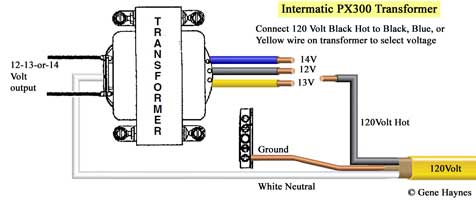 Intermatic PX 300 transformer wiring