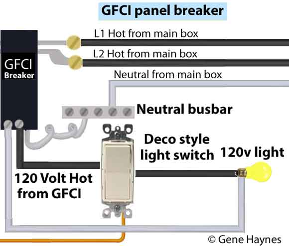 intermatic control center gfci breaker