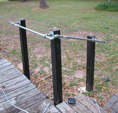 Install pipe handrail