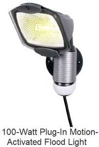 Plug in motion activated light/ 100 watt