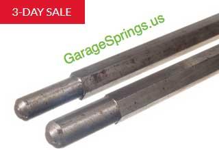 Garage spring winding bars