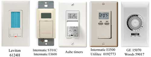 programmable water heater timers