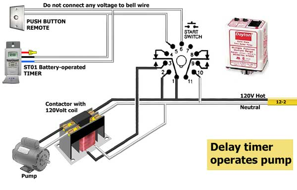 Pump off delay timer 6 off delay timer wiring diagram diagram wiring diagrams for diy timer contactor wiring diagram at metegol.co