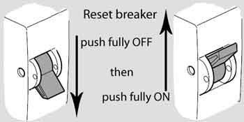 How to reset circuit breaker