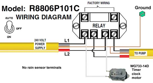 R8806p101c wiring how to wire intermatic sprinkler and irrigation timers and manuals intermatic t8845pv wiring diagram at edmiracle.co