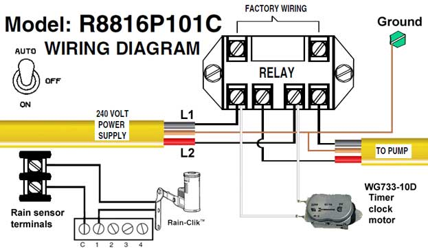 how to wire intermatic sprinkler and irrigation timers and