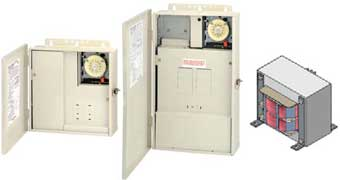 Intermatic control center with transformer