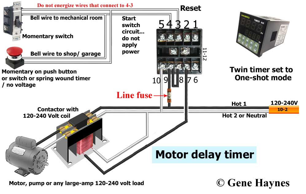 How to wire one shot timer off delay timer for recirculation system swarovskicordoba Gallery