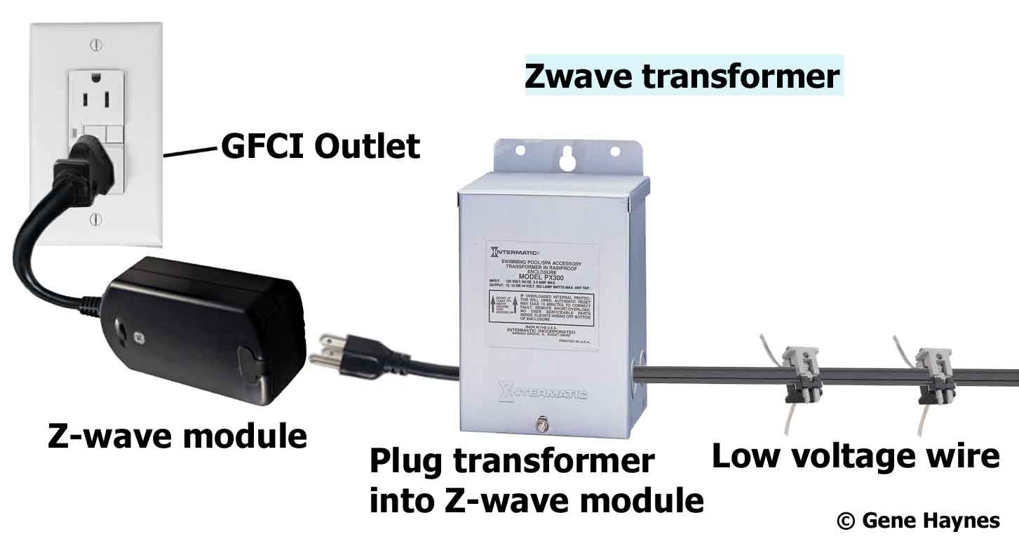 Larger image, Connect 12 gauge low voltage wire to Intermatic and Kichler  transformers