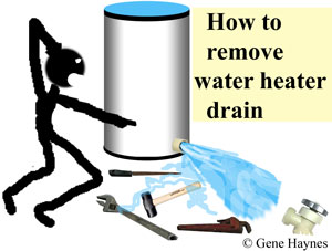 How to remove water heater drain