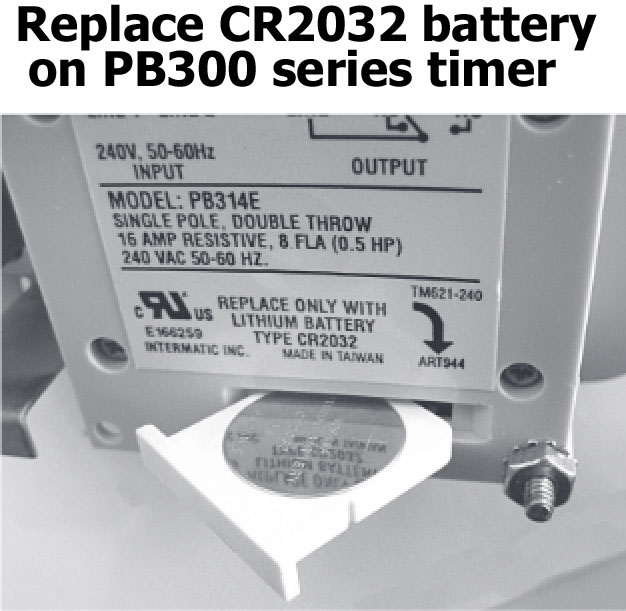 Intermatic PB300 series timer