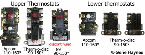 Upper and lower thermostats