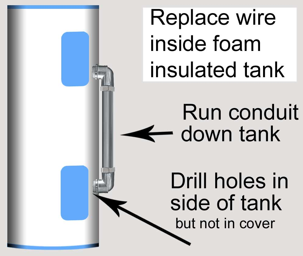 How To Troubleshoot Electric Water Heater Repairing Aluminum Wiring Replace Wire In Foam Filled Tank