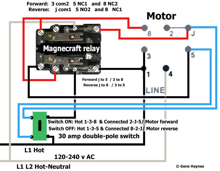 3 Phase Reversing Motor Wiring Diagram Single Pole Double ...