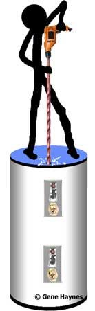 Rewire electric water heater
