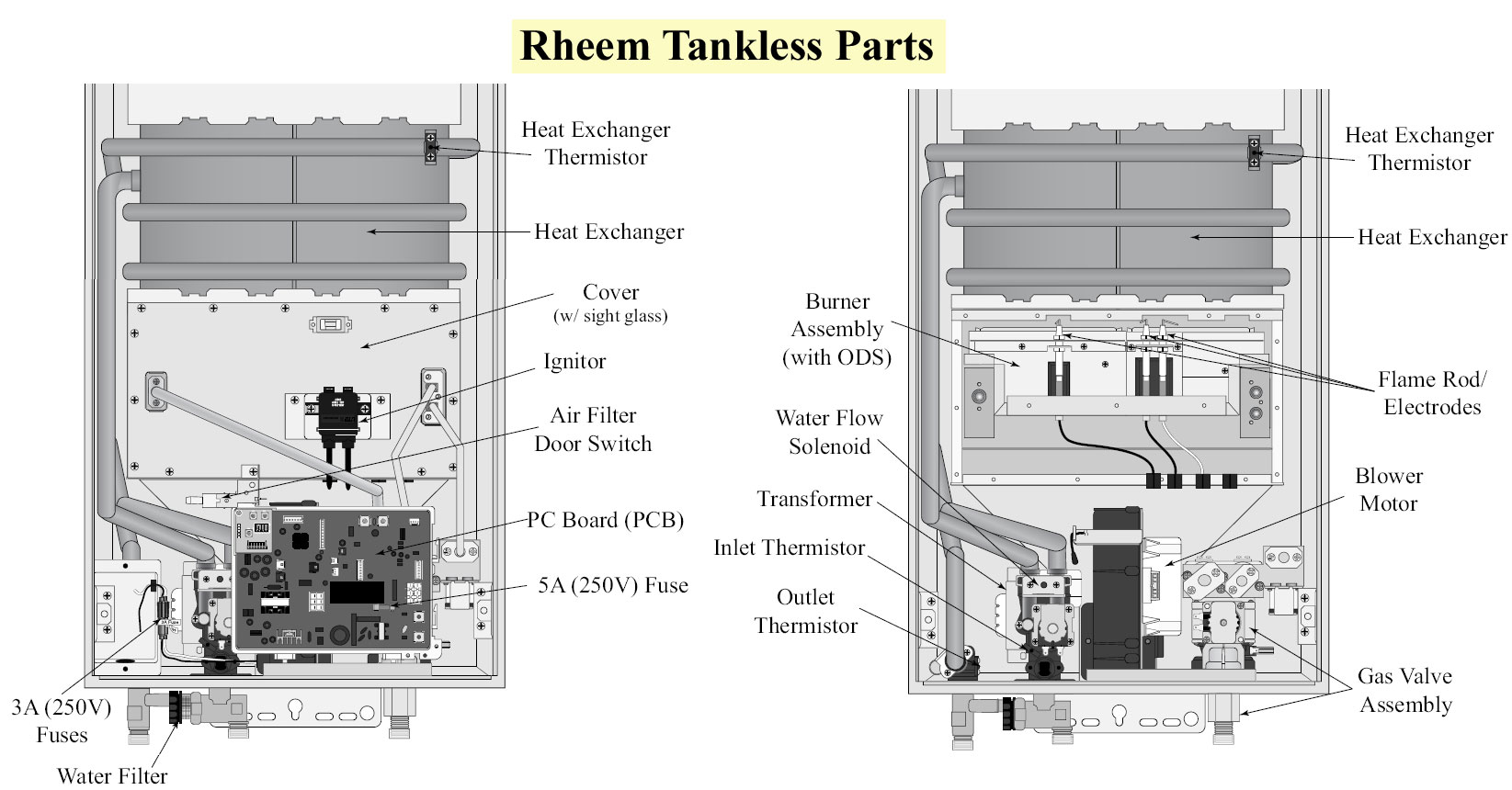 Rheem Rte 18 Wiring Diagram 27 Images Defrost Timer Diagrams Tankless Parts 860 How To Wire Water Heater Thermostat Readingrat Net
