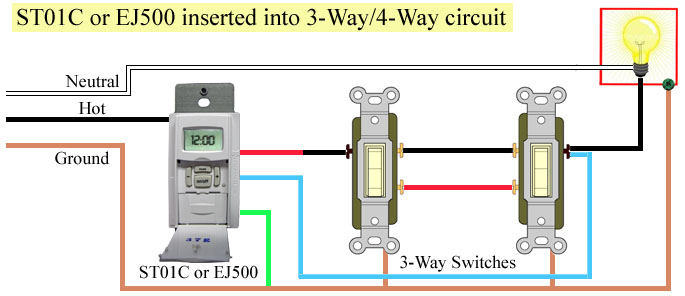 Timer for 4-way switch