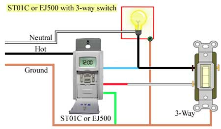 ST01C EJ500 w 3 way 450 how to program and install st01c timer Porch Light Wiring Diagrams at crackthecode.co