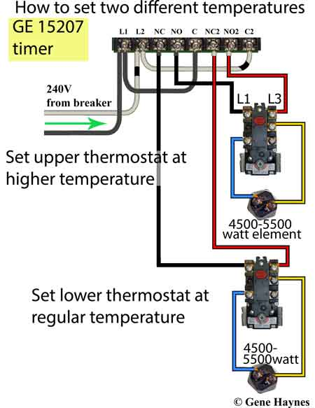 Change water heater temperature using timer