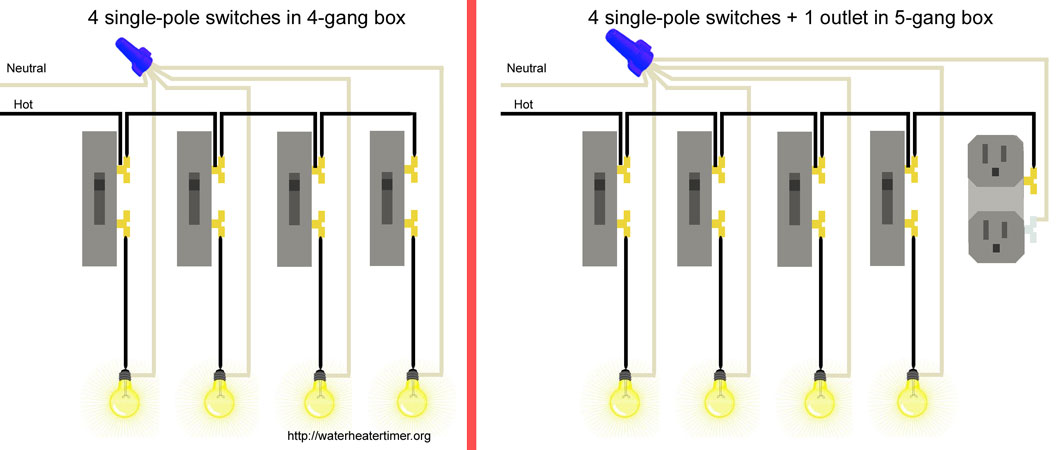 Excellent Wiring Two Light Switches In One Box Gallery