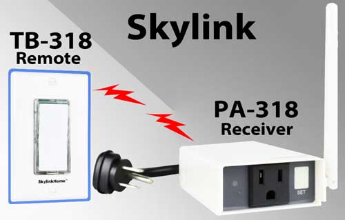 Skylink remote control countdown timer