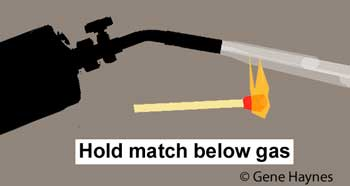 Light torch with match