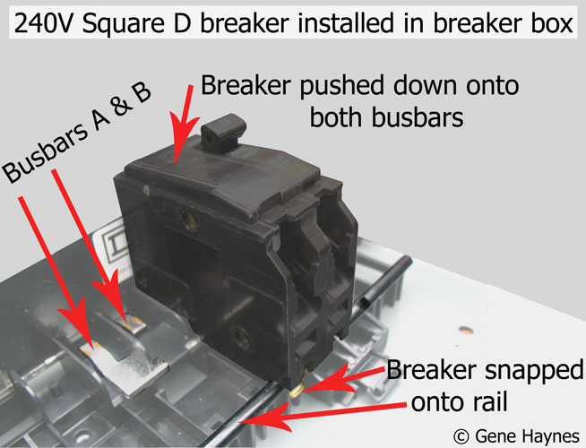 Square D breaker in subpanel