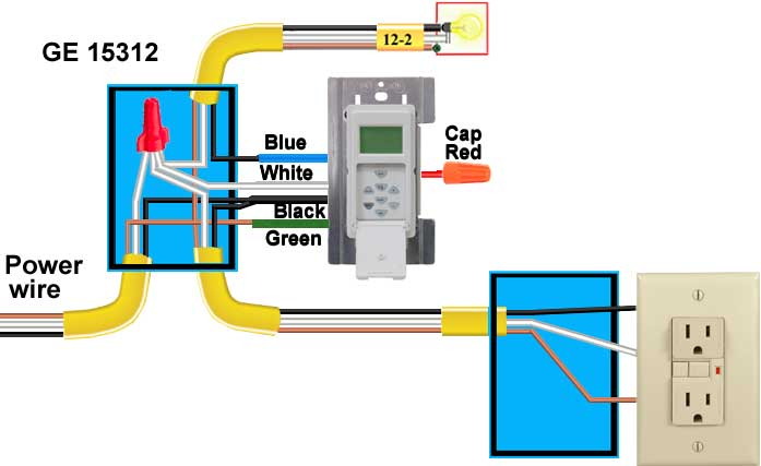 how to wire timers 3 way timers