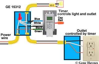 how to wire ge 15312 sunsmart timer for single pole 3 way rh waterheatertimer org GE SunSmart Digital Timer Manual GE SunSmart Digital Timer