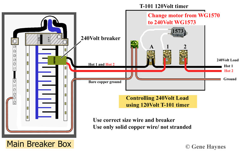 how to wire t101 timer