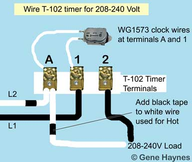 Wire Intermatic T102 timer