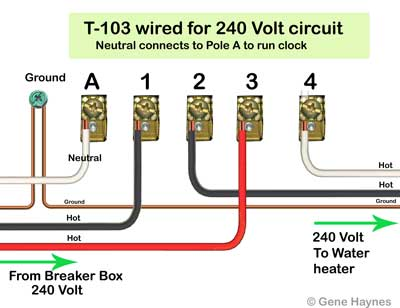 how to wire t103 timer rh waterheatertimer org Intermatic Water Heater Timer Installation Water Heater Timer Wiring