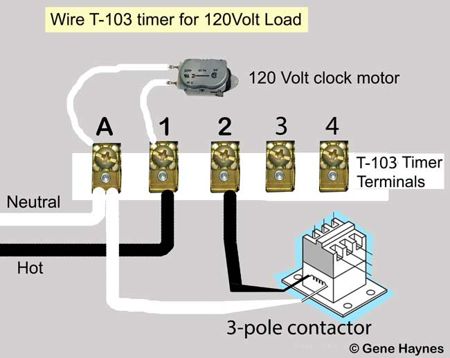 how to wire t103 timer rh waterheatertimer org  intermatic t103 timer wiring diagram