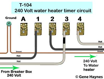 how to wire intermatic t104 and t103 and t101 timers, Wiring diagram