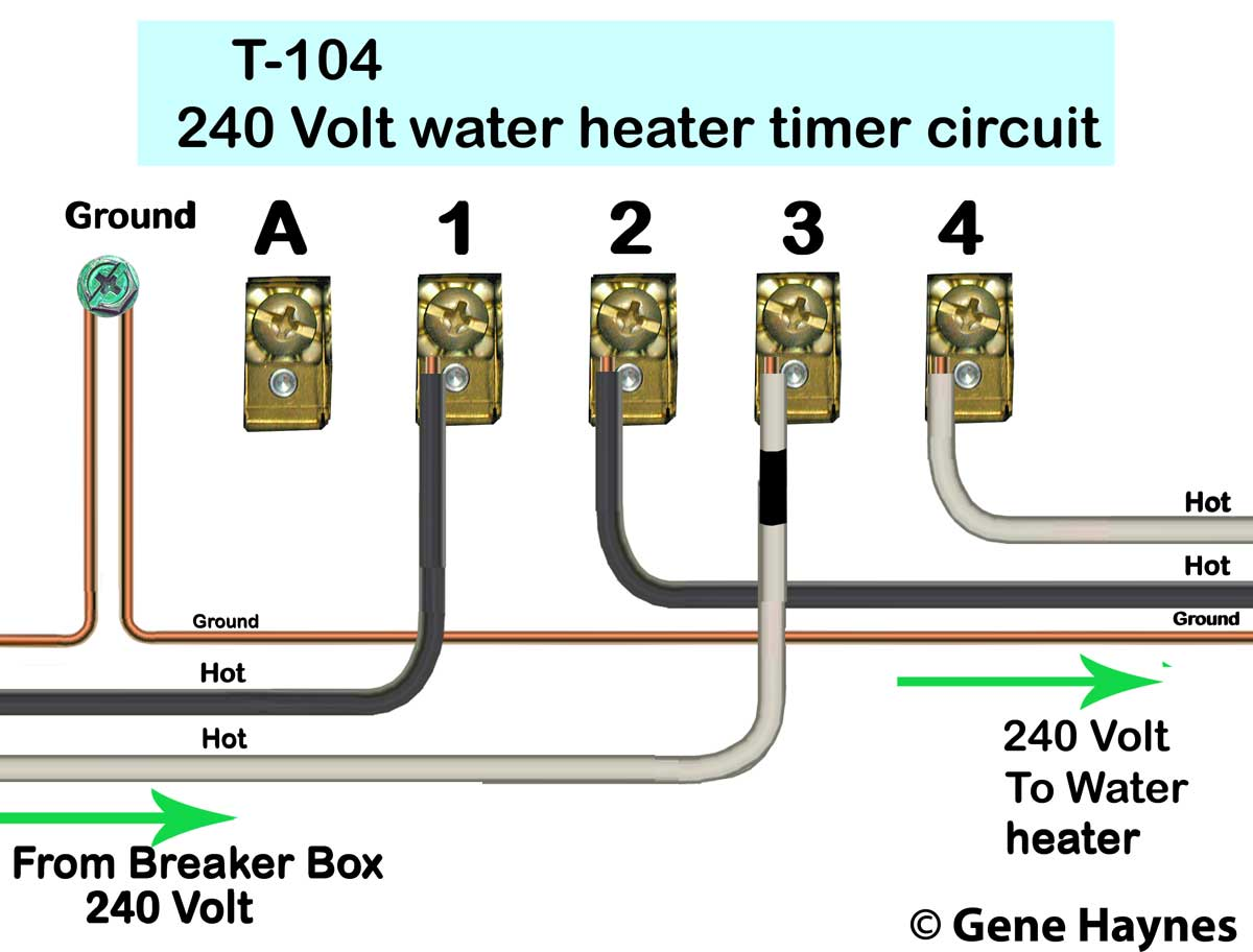 [DIAGRAM_3ER]  How to wire Intermatic T104 and T103 and T101 timers | Wiring Diagram Intermatic T102 |  | Waterheatertimer.org