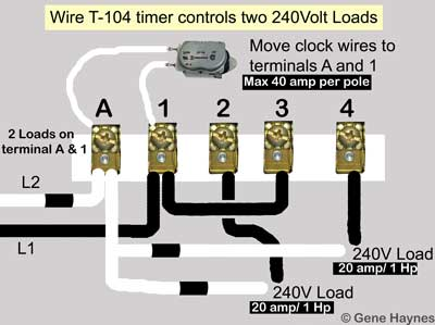 [SCHEMATICS_43NM]  How to wire Intermatic T104 and T103 and T101 timers   T103 Clock Wiring Diagram Pool      Waterheatertimer.org